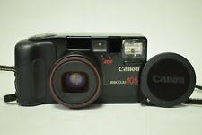 Vintage Cased CANON SAF Sure Shot Mega Zoom 105 Film Camera Lens 35-105 mm
