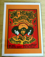 THE JIMI HENDRIX EXPERIANCE: BATON ROUGE JULY 30  : A4 GLOSSY REPODUCTION POSTER