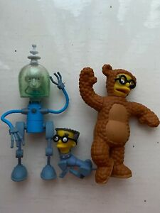 PLAYMATES INTERACTIVE THE SIMPSONS NEXT CENTURY FUTURE BURNS SMITHERS FIGURE WOS