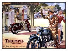 Triumph, Retro metal Aluminium Sign vintage / man cave / Garage