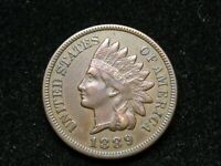 SPRING SALE!!  XF 1889 INDIAN HEAD CENT PENNY w/ DIAMONDS & FULL LIBERTY #69w