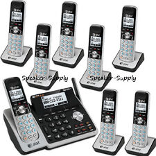 AT&T 2 Line Telephone Answering Machine System 8 Cordless Phones TL88102 7 88002