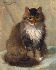 The Maine Coon cat painting Henriette Ronner-Knip reproduction Canvas Art Print