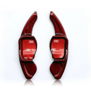 Red Carbon Fibre Paddles Shifters Extensions Skoda Superb Kodiaq Octavia VRS MK3