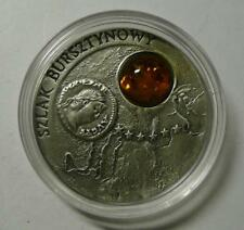 Poland 2001 20 zlotych AMBER ROUTE Silver Coin