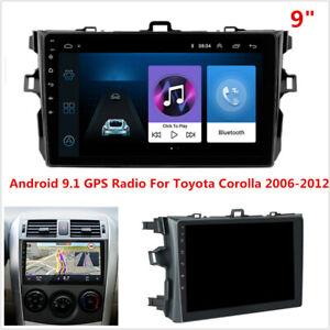 "For 2006-2012 Toyota Corolla Android 9.1 Car Stereo Radio WIFI GPS Navigation 9"""
