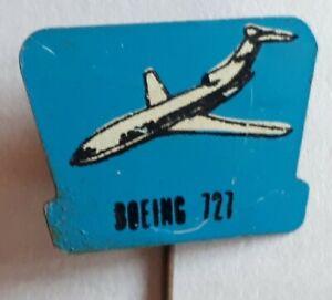 1970's Boeing 727 Aeroplane -  Tin Plate Lapel Pin Badge