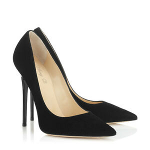 Women Shoes Pointed Toe High Heels Pumps Lady Party Dress Stiletto Suede Slip On