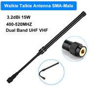 Folding 3.2dbi 15W Walkie Talkie Antenna Tactical Dual Band 400-520MHZ SMA-Male