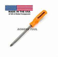 Enderes Tool Pocket 2 in 1 Orange Screwdriver Phillips Flat Made In USA 2-1