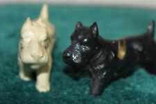 """Vintage Celluloid Resin Scottie/Terrier Dogs Figurine 3 1/2""""Long 2""""Tall"""
