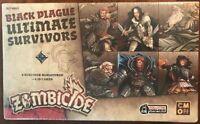 Zombicide Black Plague: Ultimate Survivors, Expansion Set, New by CMON, English