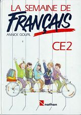 The week of French * ce2 * nathan * language 1988 * textbook * mdl