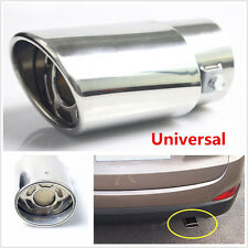 Chrome Stainless Steel Car Tail Throat Pipe Exhaust Pipe Trim Tips Muffler Pipe