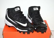 NIKE Huarache 2KFILTH Pro Mid Baseball Cleats Shoes Boys Youth 2Y Black New