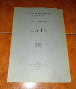 GIOVANNI CAPOVILLA LAIS LAIDE STUDI ITALIANI DI FILOLOGIA CLASSICA 1922