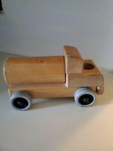 Vintage Community Playthings Rifton N.Y. Solid Wood Handmade Toy Dump Truck VTG