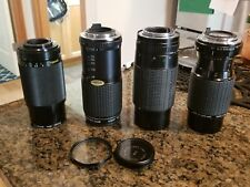 Miscellaneous Camera Lens Lot of 4 For Parts or Repair