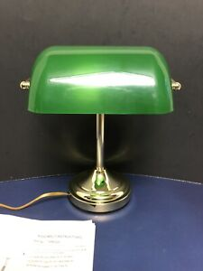 BANKER 3-Way Touch Control Lamp Desk Top Very Good Working Condition