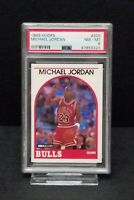 1989 NBA Hoops Michael Jordan Chicago Bulls #200 PSA 47853324 NM - MT 8