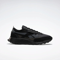 Reebok Mens Classic Legacy shoes black with a geometric look