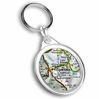 Keyring Circle - Cortina d'Ampezzo Italy Italian Travel Map  #44729