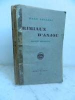 MARC LECLERC RIMIAUX D'ANJOU 1948 PATOIS POESIE POPULAIRE MAINE-ET-LOIRE