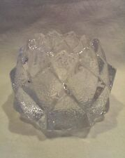 ORREFORS SWEDEN CRYSTAL  NIMBUS FIREFLY ARTICHOKE PINECOMB CANDLE HOLDER