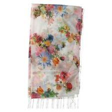 Écharpes et châles blanche à motif Floral polyester pour femme