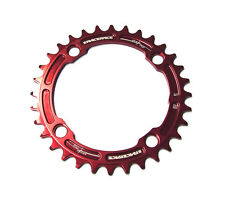 Race Face Narrow/wide Single MTB Mountain Bike Chain Ring RRSNNW104X32RED Red 104 X 32