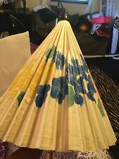 Vintage Hand Painted Wooden Umbrella Parasol Oriental