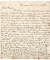GILMANTON NEW HAMPSHIRE LETTER 1840s, TYPHOID FEVER, SURGERY, DARTMOUTH COLLEGE