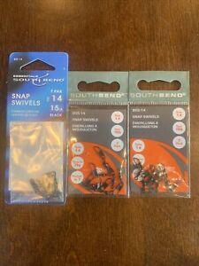 3 Packs South Bend Snap Swivels Size 14 15 LB