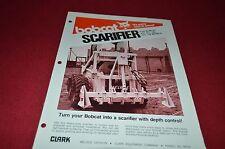 Bobcat Skid Loader Scarifier Attachment Dealers Brochure DCPA2