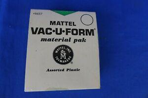 Vtg Mattel Vac-U-Form Material Pak #4697 Assorted Plastic Color Sheets Vacuform