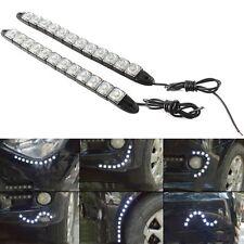 2x Flexible Strip 12LED Car Daytime Running Lights DLR Driving Daylight Fog Lamp