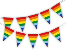 Gay Pride Rainbow Flags Coloured Bunting Banner Month Pride decoration
