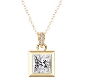 gold necklace plated crystal Pendant Wedding Bridesmaid Christmas Birthday 386