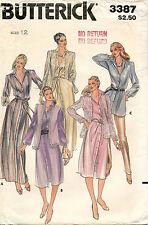 1980's VTG Butterick Jacket,Dress,Tunic,Vest&Belt Pattern 3387 Size 12 UNCUT