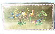 VINTAGE BISCUITS TIN GOLDEN CASKET TROPICAL BIRDS MACFARLANE&LANG 1930S