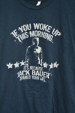 Jack Bauer Kiefer Sutherland spared your life blue short sleeve shirt size L