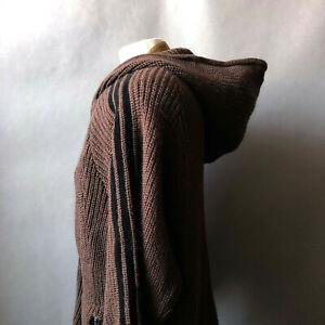 Muhammad Ali Adidas 2006 Brown Wool Zip Warm Up Cardigan Sweater Jacket XL XXL