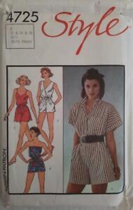 Vintage STYLE Sewing Pattern 4725 SZ 12-16 UNCUT 1980's MISSES' JUMPSUIT/ROMPER