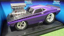 DODGE CUDA violet au 1/18 MUSCLE MACHINES 61180 voiture miniature de collection