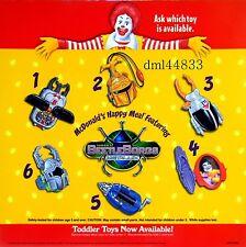 1997 McDonalds Beetle Borgs MIP Complete Set - Lot of 6, Boys & Girls, 3+