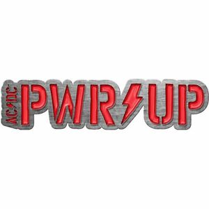AC/DC Pwr/Up Shaped Metal Pin Badge (rz)