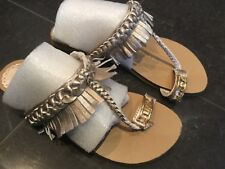Juicy Couture New & Genuine Girls Gold Leather Sandals UK 12, EU 31 & Juicy Logo