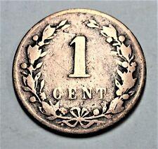 Niederlande 1 Cent 1878  - König Wilhelm III. - nur s bis ss / f - vf