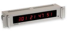 Symmetricom 820-210 RD-1 IRIG-B Serial Timecode Red LED Remote Display Rackmount