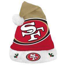 San Francisco 49ers Team Big Logo Holiday Plush Santa Hat NEW! Christmas 2018